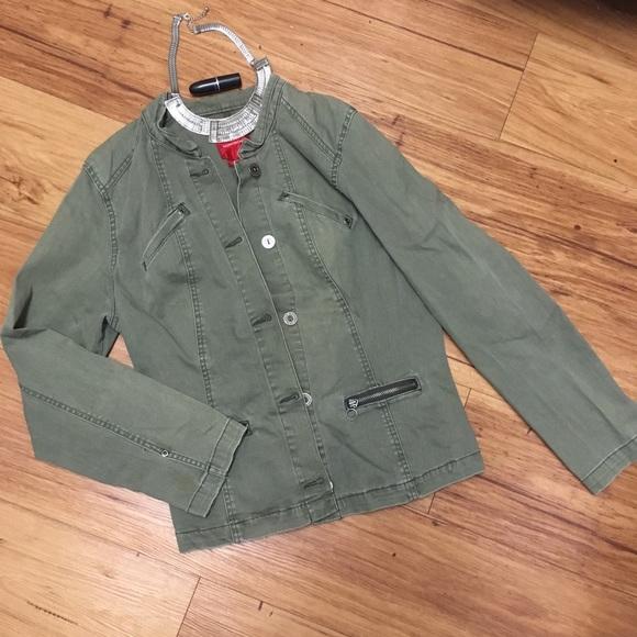 b0aa8ce16f Gloria Vanderbilt Jackets   Blazers - Fashion Coat Gloria Vanderbilt Olive  army green